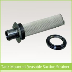 Tank Mounted Reusable Suction Strainer